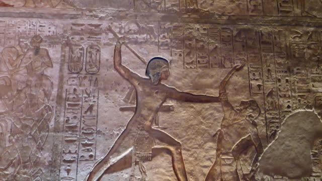 egypt, abu simbel - thr great temple of ramses ii - pharaoh stock videos & royalty-free footage