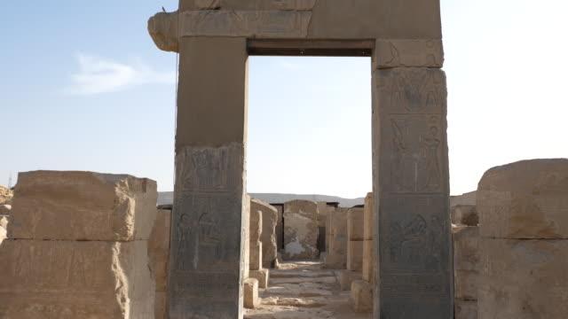 egypt, abydos - temple of ramesses ii - 寺院 個影片檔及 b 捲影像