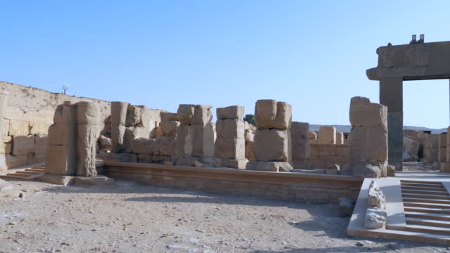 egypt, abydos - temple of ramesses ii - carving craft product stock videos & royalty-free footage