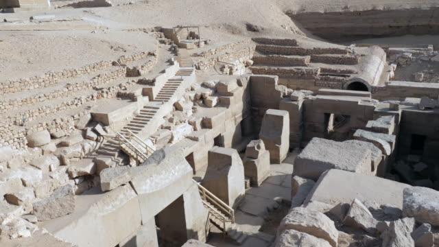 egypt, abydos - temple of sety i - osireion - 寺院 個影片檔及 b 捲影像