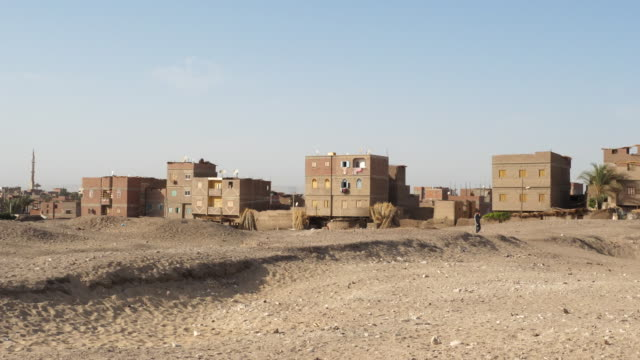 egypt, abydos - view of the village - egypt stock videos & royalty-free footage