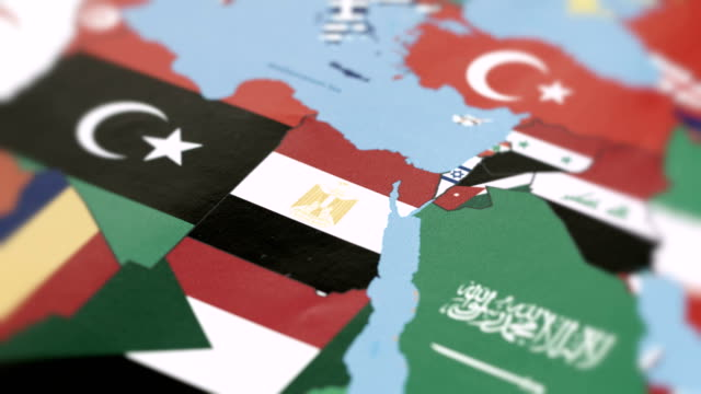 egypt borders with national flag on world map - retrovirus stock videos & royalty-free footage