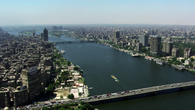 egypt, cairo: aerial view of the city - cairo stock videos & royalty-free footage