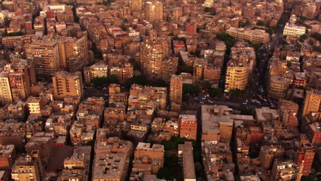 egypt, cairo: aerial view of the city - egypt stock videos & royalty-free footage