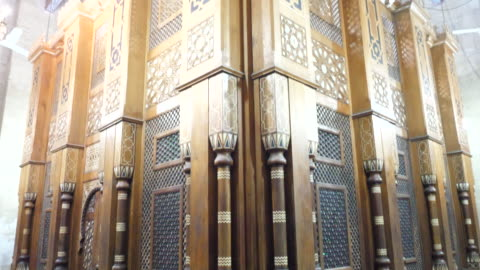 egypt, cairo - al rifa'i mosque with the tomb of mohammed reza pahlavi - mosque stock videos & royalty-free footage