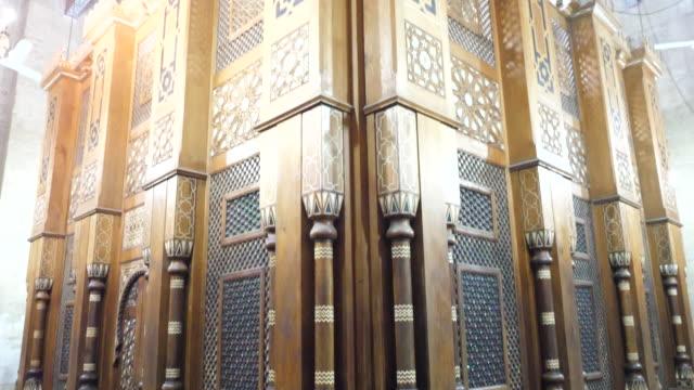 egypt, cairo - al rifa'i mosque with the tomb of mohammed reza pahlavi - moské bildbanksvideor och videomaterial från bakom kulisserna
