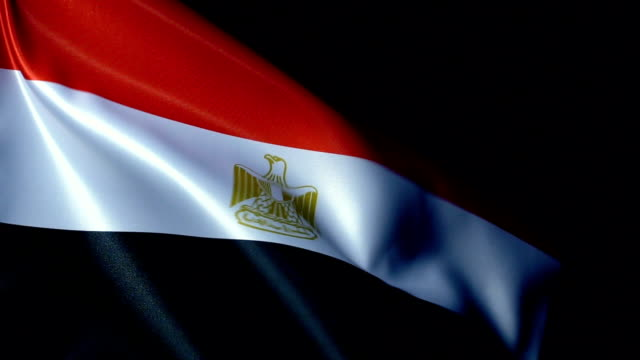 egypt flag flapping - suez canal stock videos & royalty-free footage
