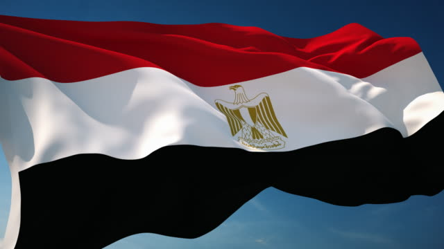 4k egypt flag - loopable - egypt stock videos & royalty-free footage