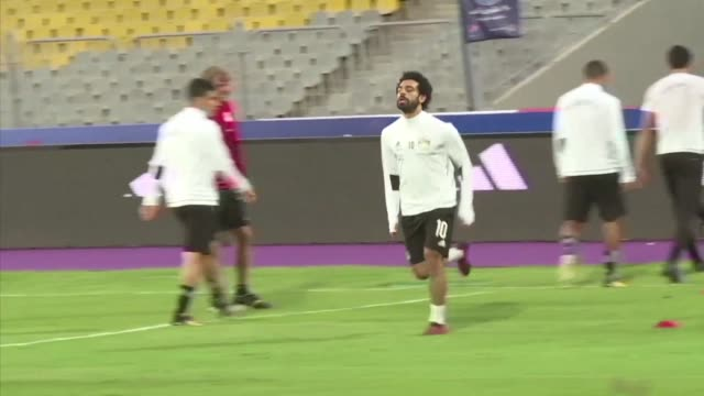 egypt national football team trained saturday ahead of their qualifier against the congolese team sunday - national team stock videos & royalty-free footage