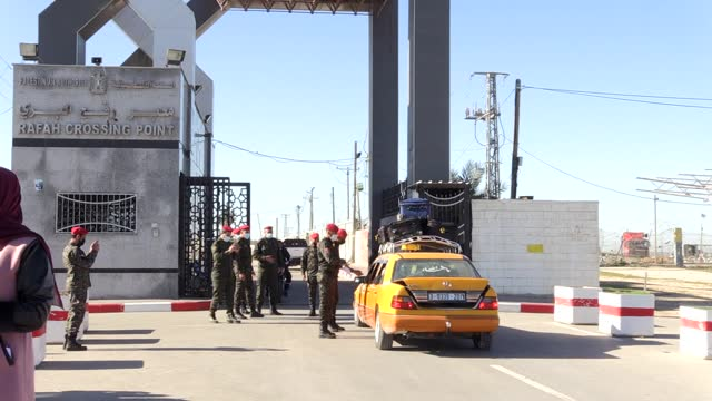egypt on monday reopened the rafah crossing with the blockaded gaza strip, according to the palestinian interior ministry. the border terminal will... - exclusive stock videos & royalty-free footage