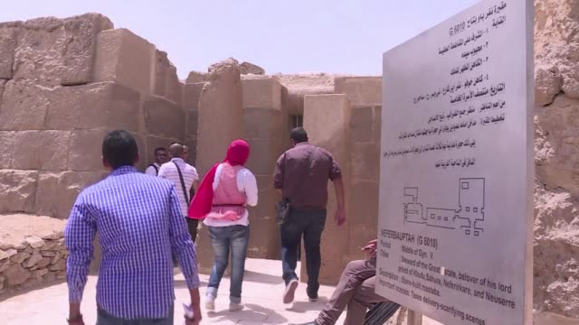 egypt on monday reopened two tombs at the giza pyramids belonging to iymery who was known as the priest of ancient egyptian pharaoh khufu during the... - pharaoh stock videos & royalty-free footage