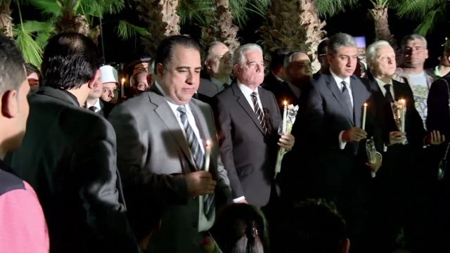 egypt on sunday commemorated the first anniversary of the metrojet russian airliner crash in the sinai that killed all 224 people on board - kogalymavia stock-videos und b-roll-filmmaterial