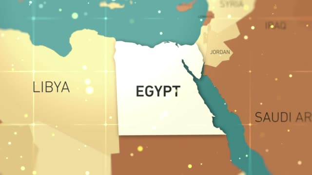 egypt on world map stock video - egyptian culture stock videos & royalty-free footage