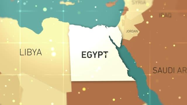 stockvideo's en b-roll-footage met egypte op wereld kaart stockvideo - egyptische cultuur