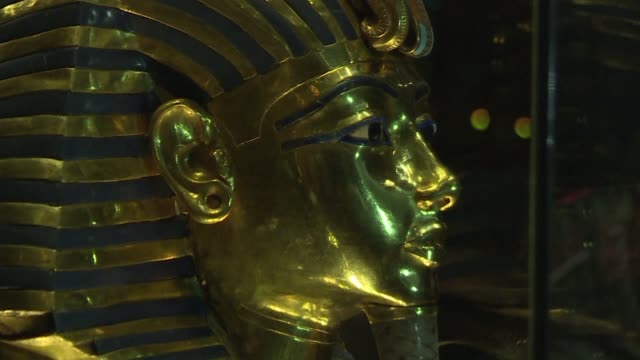Egypt put the restored gold mask of Tutankhamun back on display Wednesday after German experts removed glue applied in a botched repair when the...
