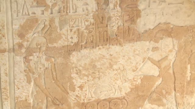 Egypt unveiled Thursday the 3000 year old tombs of two senior pharaonic military leaders in the famed Saqqara necropolis one of them decorated with...