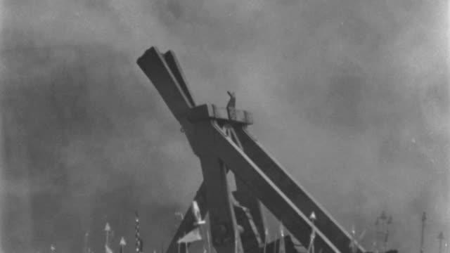 dx - egypt - war - ancient land battle - giant sling shot hurls boulder at wall - print n.g. - war stock videos & royalty-free footage