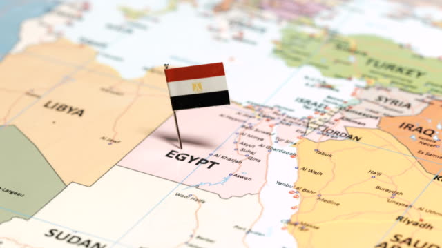 egypt with national flag - egypt stock videos & royalty-free footage