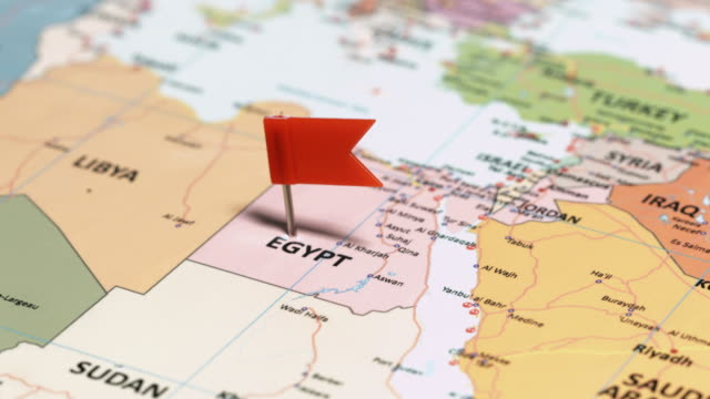 egypt with pin - suez canal stock videos & royalty-free footage