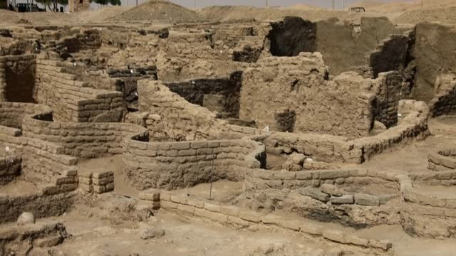 egyptian antiquities authority announced that 3 thousand years ancient city was found. according to the statement made by the institution ancient... - egypt stock videos & royalty-free footage