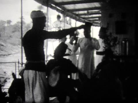 1928 egyptian dancers on a nile riverboat - black and white stock videos & royalty-free footage