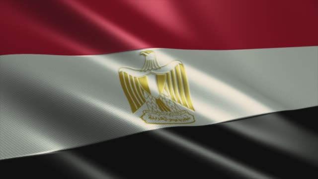 egyptian flag high detail - looping stock video - lebanon country stock videos & royalty-free footage