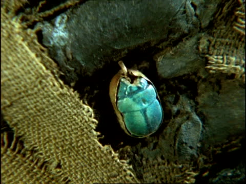 egyptian hand, cu blue scarab beetle ring - expense stock videos and b-roll footage