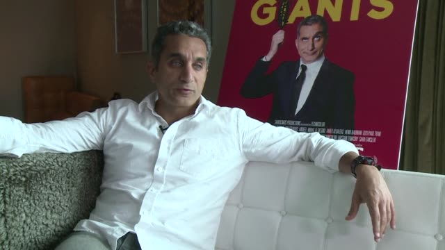 stockvideo's en b-roll-footage met egyptian heart surgeon turned comedian bassem youssef not so long ago hosted the most popular political satire show in his country's history - satire