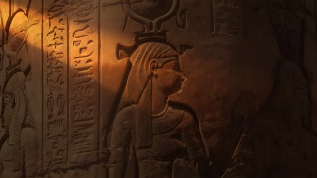egyptian hieroglyphics - archaeology stock videos & royalty-free footage