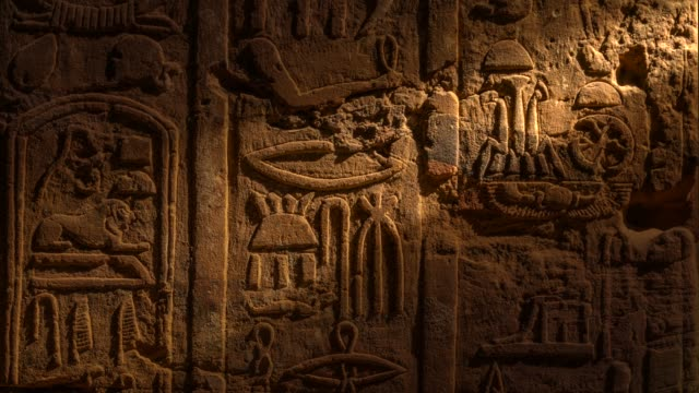 egyptian hieroglyphics - egypt stock videos & royalty-free footage