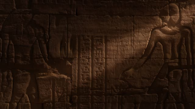 egyptian hieroglyphics - pharaoh stock videos & royalty-free footage