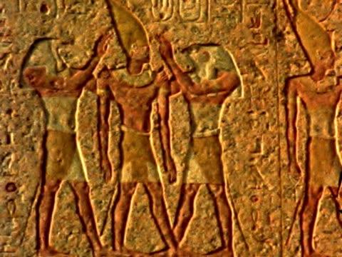 geroglifici egiziani - geroglifico video stock e b–roll