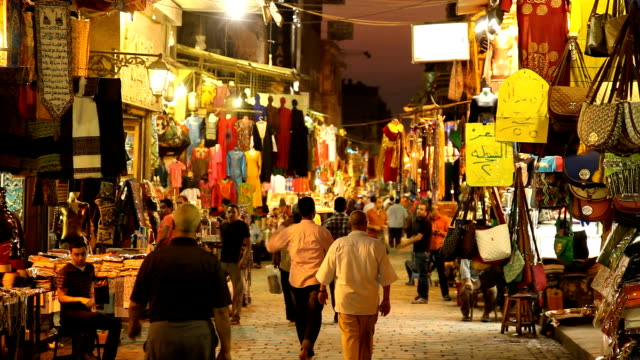 ws egyptian night market/ cairo/ egypt - egypt stock videos & royalty-free footage