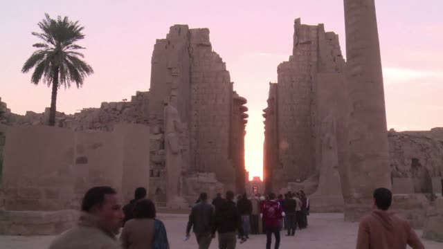 egyptian police said wednesday they had foiled an attempted suicide bomb attack on one of the country's most popular tourist destinations in luxor... - temples of karnak stock videos and b-roll footage