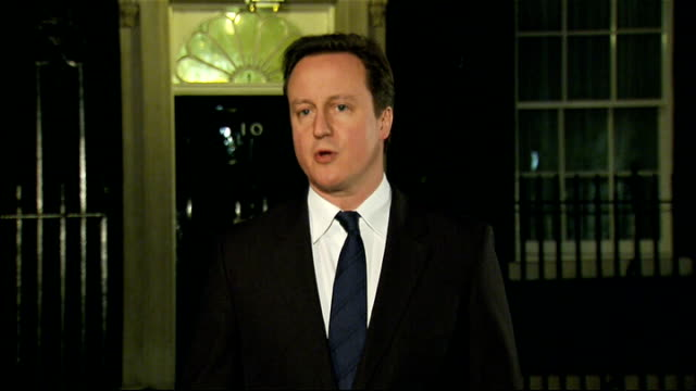 egyptian president hosni mubarak stands down david cameron statement england london downign street david cameron mp statement in downign street... - president of egypt stock videos & royalty-free footage