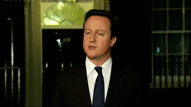 egyptian president hosni mubarak stands down international reaction / political background england london downing street david cameron mp press... - president of egypt stock videos & royalty-free footage