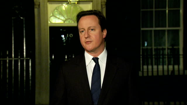 egyptian president hosni mubarak stands down international reaction / political background england london downing street david cameron mp speaking to... - president of egypt stock videos & royalty-free footage