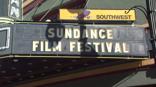 stockvideo's en b-roll-footage met egyptian theatre at the atmosphere 2011 sundance film festival at park city ut - sundance film festival