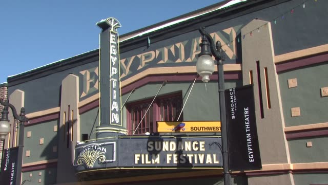 egyptian theatre at the atmosphere 2011 sundance film festival at park city ut - park city stock videos & royalty-free footage
