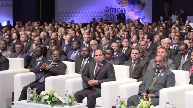 egypt's president abdel fattah alsisi opened on saturday an economic summit attended by african leaders and businessmen that aims to boost trade and... - summit meeting stock videos and b-roll footage