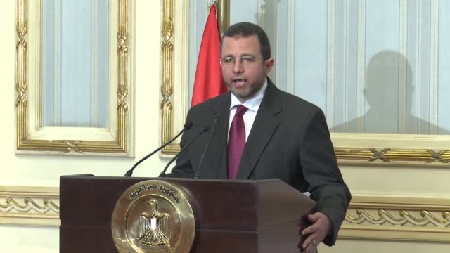 egypt's prime minister hisham qandil unveiled a new cabinet on thursday that retained military chief field marshal hussein tantawi as defence... - field marshal stock videos and b-roll footage