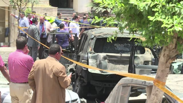 egypts state prosecutor was wounded when a powerful bomb hit his convoy in the capital on monday officials said after jihadists urged attacks on the... - prosecutor stock videos & royalty-free footage
