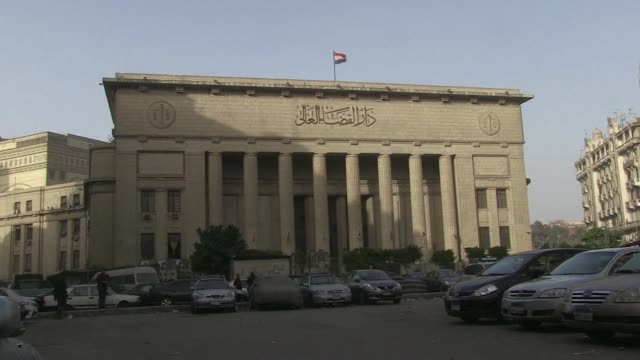egypts top court begins hearing an appeal by three jailed al jazeera journalists as hopes for their release grows amid thawing relations between... - journalist stock videos & royalty-free footage