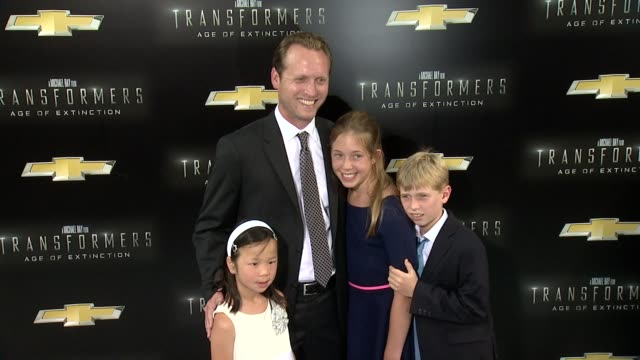 """ehren kruger and family at """"transformers: age of extinction"""" new york premiere at ziegfeld theatre on june 25, 2014 in new york city. - new age stock videos & royalty-free footage"""