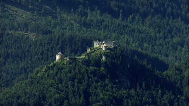 WS HA Ehrenberg castle ruins on top of mountain, Tyrol, Austria