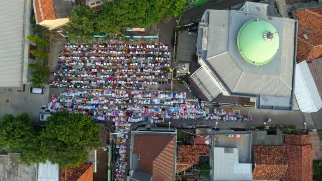 Eid al-Fitr Muslim Festival Praying