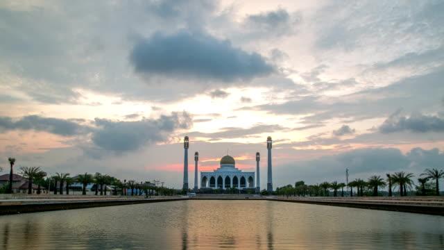 eid mubarak mosque place - mt kinabalu stock videos and b-roll footage