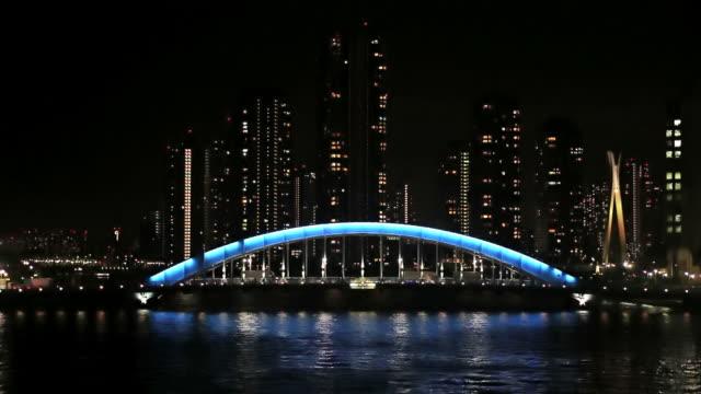 Eidai ponte e Fiume Sumida, Tokyo, Giappone