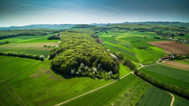 Eifel, Germany, aerial view of rural landscape