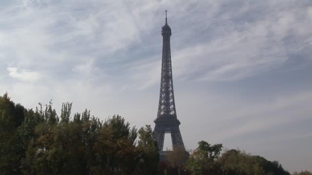 WS, Eiffel Tower against sky, Paris, France